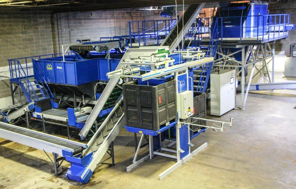 Potato processing installation